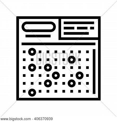 Card Lotto Line Icon Vector. Card Lotto Sign. Isolated Contour Symbol Black Illustration