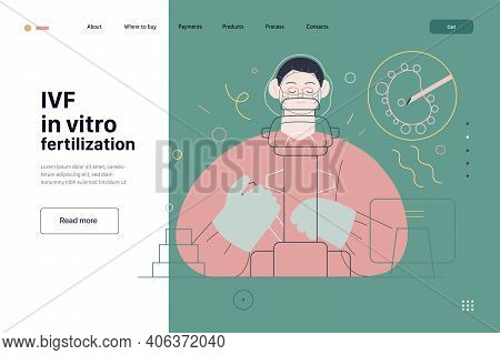 Test Tube Baby, In Vitro Fertilization, Ivf -medical Insurance Illustration -modern Flat Vector Conc