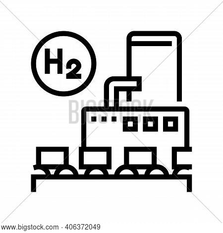 Use In Food Industry Hydrogen Line Icon Vector. Use In Food Industry Hydrogen Sign. Isolated Contour