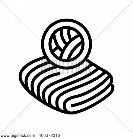 Velvet Fabric Line Icon Vector. Velvet Fabric Sign. Isolated Contour Symbol Black Illustration