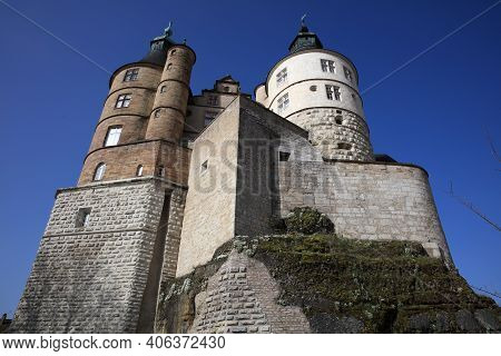 Montbeliard, France - 15.04.2018: Castle Of The Dukes Of Wurttemberg In Montbeliard. Alsace. France