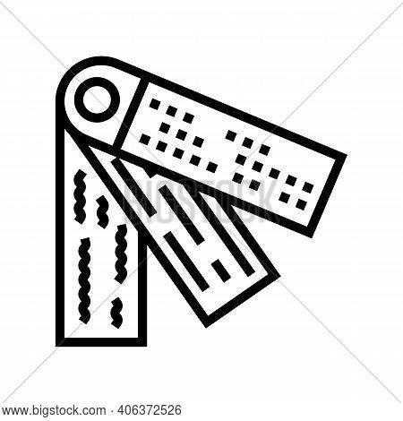 Examples Textiles Drapery Shop Line Icon Vector. Examples Textiles Drapery Shop Sign. Isolated Conto