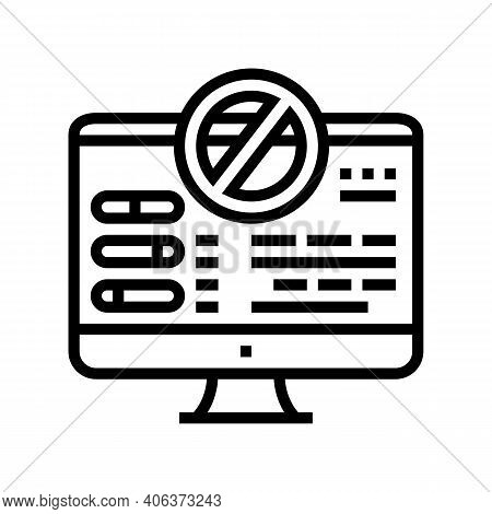 Fixing Computer Errors Line Icon Vector. Fixing Computer Errors Sign. Isolated Contour Symbol Black