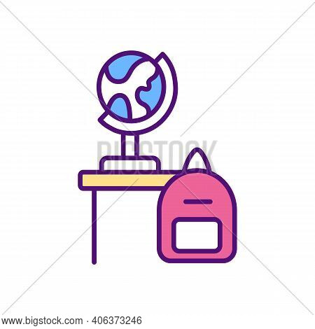 Adapting School Curriculum Rgb Color Icon. Online Teaching Tips. Provide Interactive Activities. Use