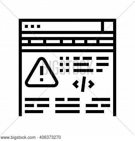 Fixing Program Errors Line Icon Vector. Fixing Program Errors Sign. Isolated Contour Symbol Black Il