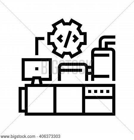 Industrial Equipment Debugging Line Icon Vector. Industrial Equipment Debugging Sign. Isolated Conto