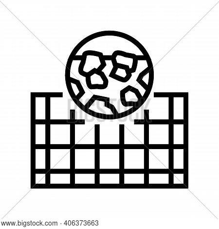 Foundation Stone Gravel Component Line Icon Vector. Foundation Stone Gravel Component Sign. Isolated