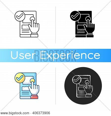 Usability Icon. Online Application Check. Ux Testing. Quality Control. Software Engineering. User Ex