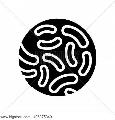 Lactococcus Probiotics Glyph Icon Vector. Lactococcus Probiotics Sign. Isolated Contour Symbol Black