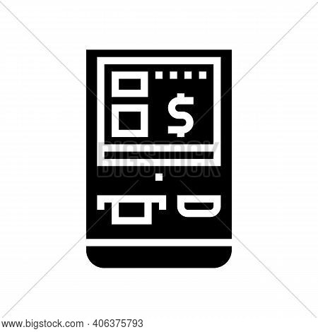 Multifunctional Pos Terminal Glyph Icon Vector. Multifunctional Pos Terminal Sign. Isolated Contour