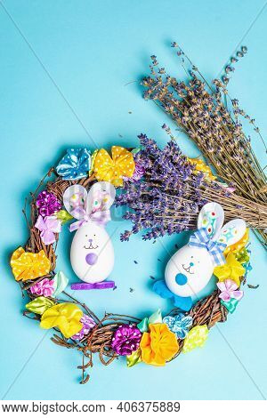 Traditional Easter Symbols Concept