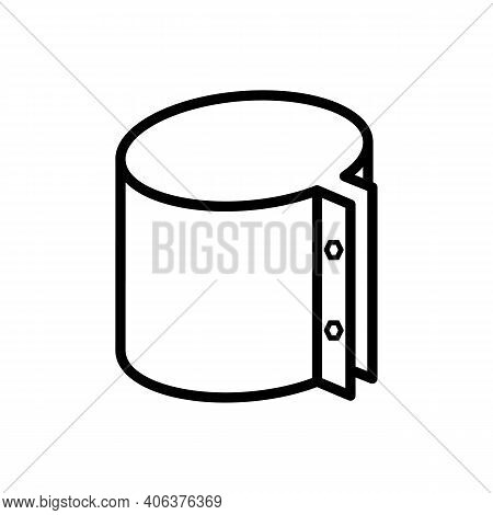 Clamp Coupling Clamp. Vector Sign In A Simple Style Isolated On A White Background
