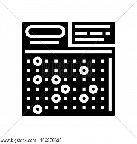 Card Lotto Glyph Icon Vector. Card Lotto Sign. Isolated Contour Symbol Black Illustration