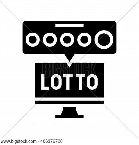 Tv Lotto Glyph Icon Vector. Tv Lotto Sign. Isolated Contour Symbol Black Illustration