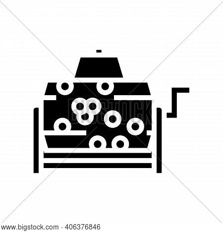 Wheel Lottery Glyph Icon Vector. Wheel Lottery Sign. Isolated Contour Symbol Black Illustration