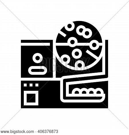 Fortune Wheel Lotto Glyph Icon Vector. Fortune Wheel Lotto Sign. Isolated Contour Symbol Black Illus