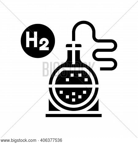 Use In Synthesis Hydrogen Glyph Icon Vector. Use In Synthesis Hydrogen Sign. Isolated Contour Symbol