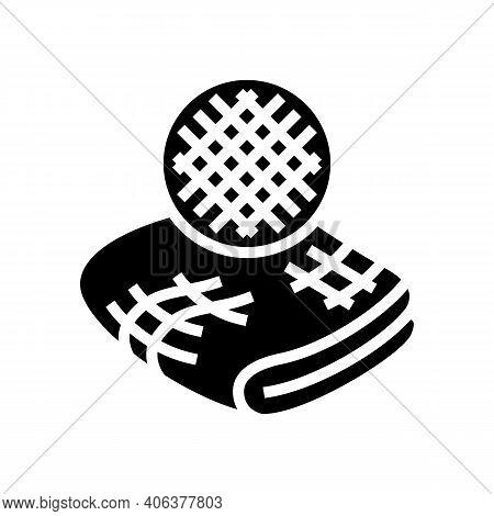 Linen Fabric Glyph Icon Vector. Linen Fabric Sign. Isolated Contour Symbol Black Illustration