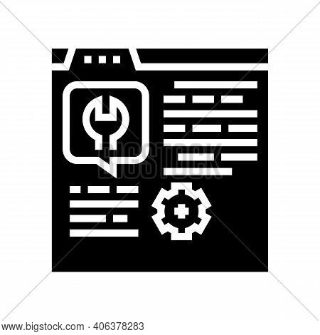 Settings Instruction Glyph Icon Vector. Settings Instruction Sign. Isolated Contour Symbol Black Ill