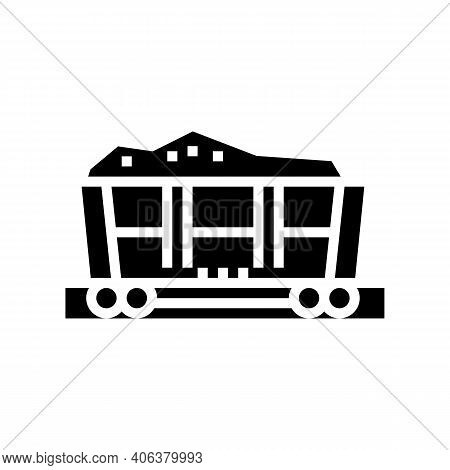 Railway Carriage Stone Glyph Icon Vector. Railway Carriage Stone Sign. Isolated Contour Symbol Black