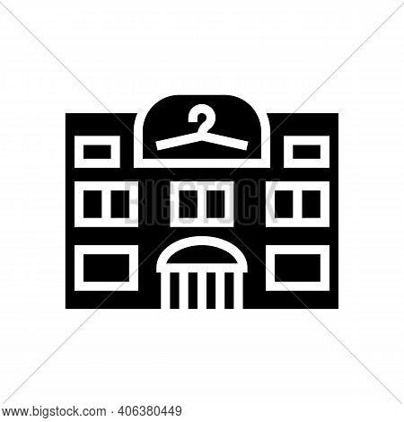 Clothing Shop Boutique Glyph Icon Vector. Clothing Shop Boutique Sign. Isolated Contour Symbol Black