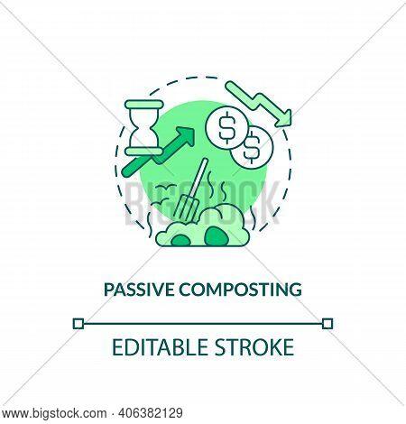 Passive Composting Concept Icon. Composting Method Idea Thin Line Illustration. Household Biodegrada