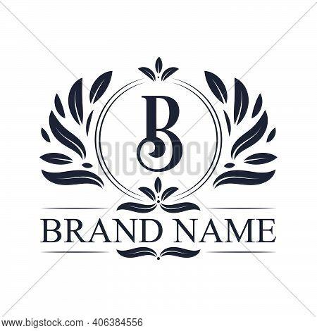 Alphabet B Letter Logo Design. Vintage, Luxurious & Ornamental Luxury Letter B Logo Design Template.