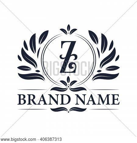 Vintage Ornamental Alphabet Z Logo Design Template. Luxury & Elegant Z Letter Logo Design Template.