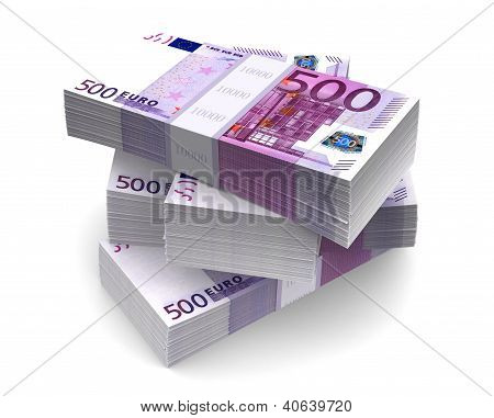 Euro Bills Packs (with clipping path)