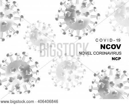 Web Virus Background - Microbiology And Virology Concept. Coronavirus Virus Covid 19-ncp. Coronaviru