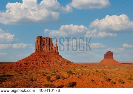 Beautiful Monument Valley Landscape Showing the Famous Navajo Buttes