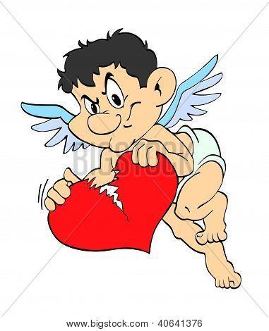 Valentine's Day Cupid Broken Heart