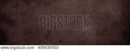 Old Brown Paper Vintage Background With Dark Coffee Color Texture, Antique Brown Abstract Background