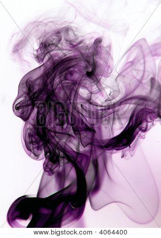 Smoke Purple And Black On White Background