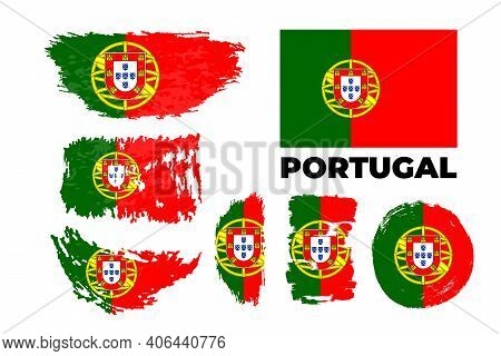 Happy Independence Day Of Portugal Vector Illustration