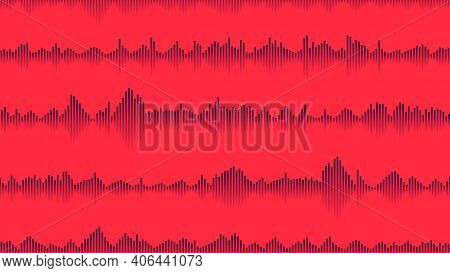 Seamless Sound Waveform Pattern For Music Player, Podcasts, Video Editor, Voise Message In Social Me