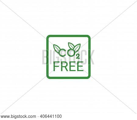 Free Neutral Co2 Icon. Green Carbon Neutrality Sign. Zero Carbon Emissions Label. Vector Illustratio