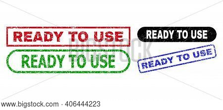 Ready To Use Grunge Seal Stamps. Flat Vector Grunge Seal Stamps With Ready To Use Slogan Inside Diff