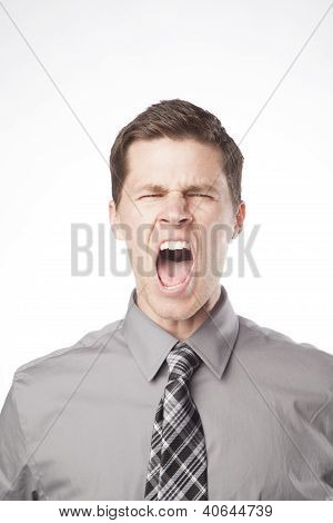 Business Man Yelling