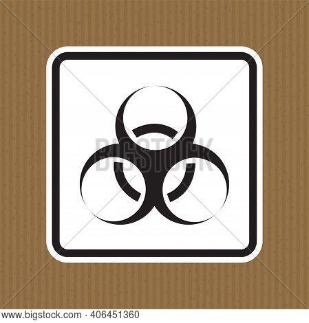 Beware Biological Hazard Symbol Isolate On White Background,vector Illustration Eps.10