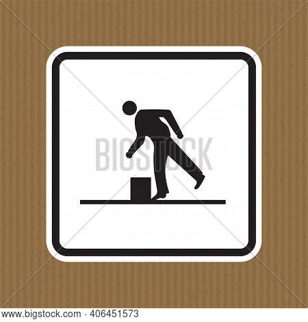 Beware Obstacles Symbol Isolate On White Background,vector Illustration Eps.10