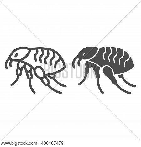 Bloodsucker Line And Solid Icon, Pest Control Concept, Louse Sign On White Background, Insect Parasi