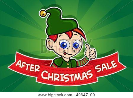After Christmas Sale banner / Elf