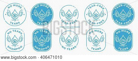 Conceptual Stamps For Product Packaging. Marking - No Tears. Stamp With The Symbol Of The Free. A Dr