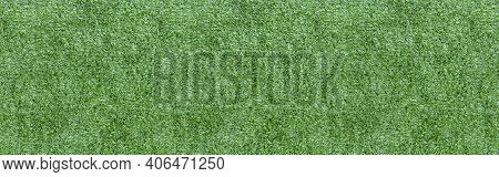 Panorama Of New Green Artificial Turf Flooring Texture And Background Seamless