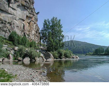 View Of The Biya River In The Altai Republic