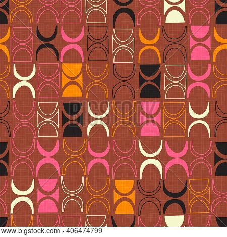 Seamless Abstract Mid Century Tiki Pattern For Backgrounds, Fabric Design, Wrapping Paper, Scrapbook