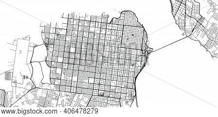 Urban Vector City Map Of Posadas, Argentina