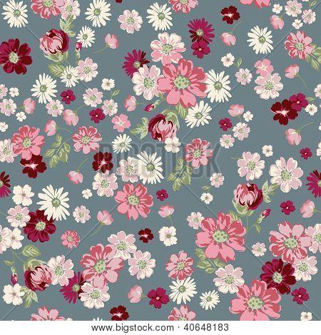 seamless vintage floral ditsy background