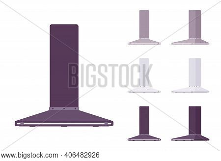 Kitchen Hood Set, Wall Mount Filter Kit. Chimney Stove Vent, Healthy Cooking And Easy Home Air Clean